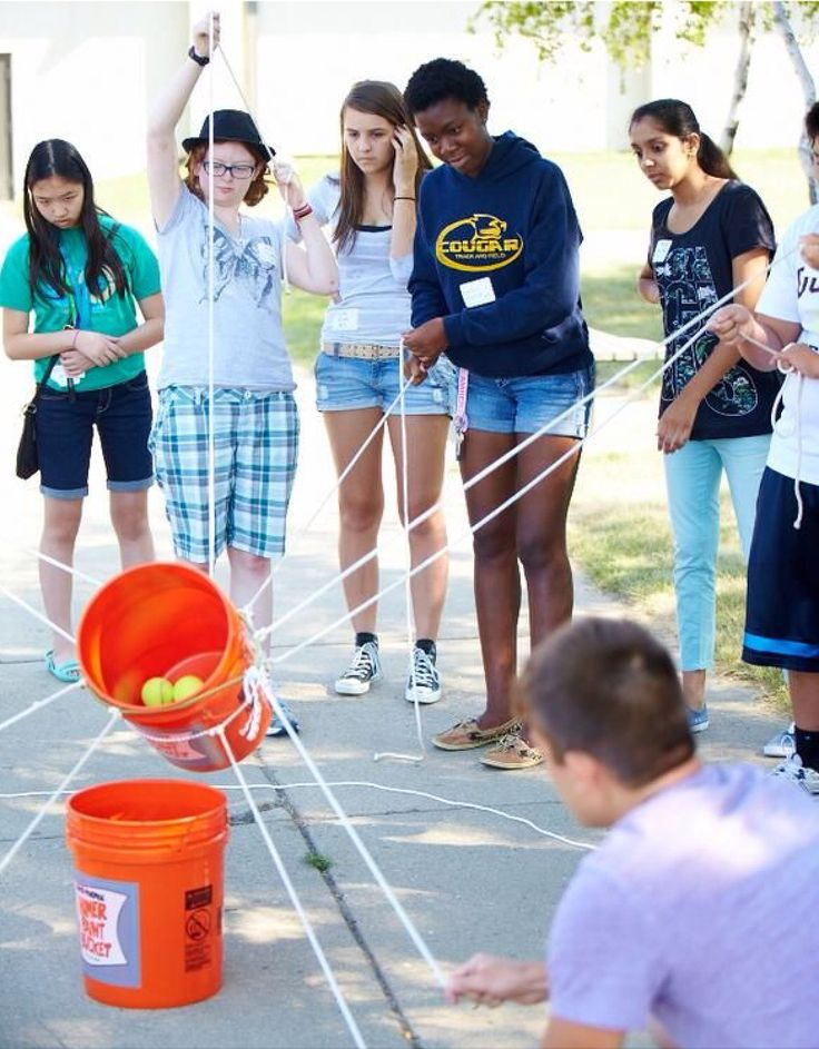 Interactive, group game, needs rope and bucket