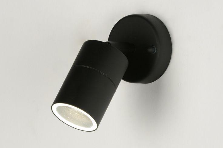 spot 71570: modern, metaal, zwart, mat, rond ...