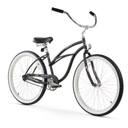 26 inch Firmstrong Urban Lady Single Speed Women's Beach Cruiser Bike, Matte Black
