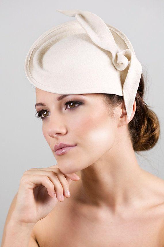 Womens Hat Felt Leaf Tail Bridal Saucer With Optional Birdcage Veil Designer Races Mini Laurel