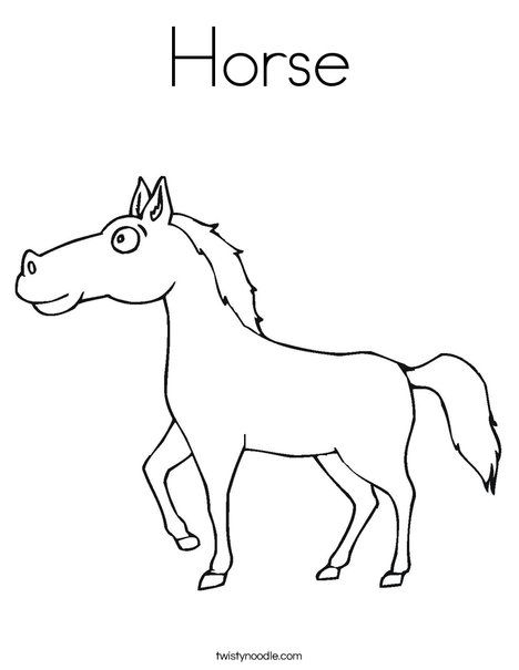 preschool horse coloring pages - photo#26