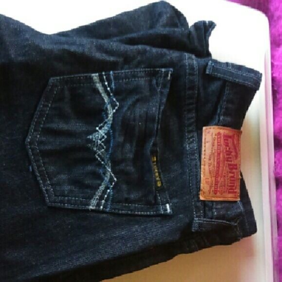 Lucky Brand Wide Leg Jeans Wide Leg Deep Blue Lucky Jeans In Excellent Condition. Lucky Brand Jeans Flare & Wide Leg
