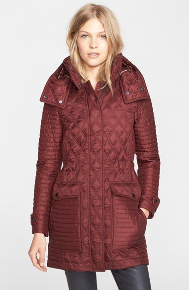Women S Burberry Brit Bosdale Quilted Coat With