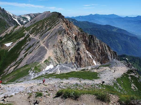 白馬岳(北アルプス)・白馬三山縦走の登山ルート案内。北アルプス登山ルートガイド。Japan Alps mountain climbing route guide