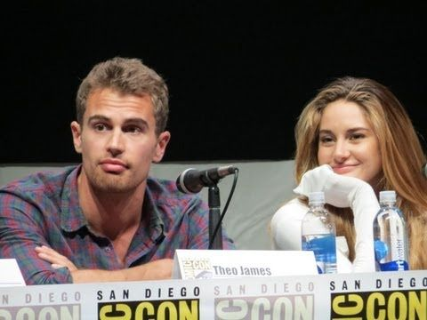 Divergent Cast at Comic-Con Shailene Woodley(Funny)