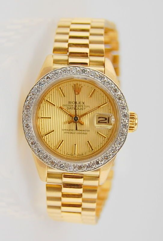 #Forsale Ladies 18k Yellow Gold #Rolex President Datejust 6917 25mm Automatic Wrist Watch #Auction @$3,250.00