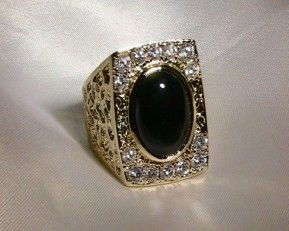 The Elvis FBI Ring was one beautifully designed Onyx Ring surrounded with 14 1/4…