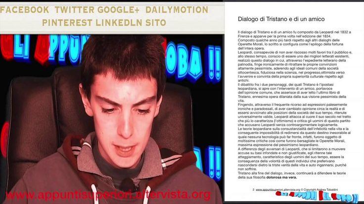 Dialogo di Tasso e dialogo di Tristano  by Gli Appunti Del Toba