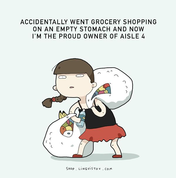 I have learned: nevergo shopping when your hungry,use a calculator,be sure to shop comfortably,dont rush,plan ahead+have a shopping list!