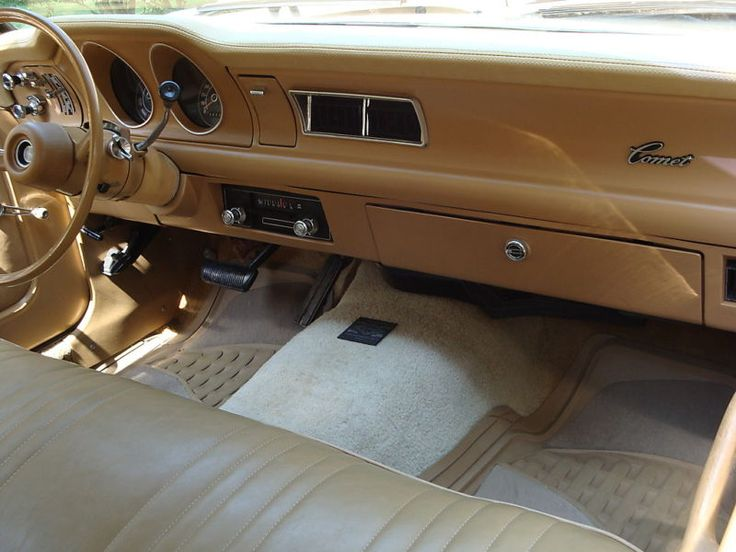 dash and interior, 1976 Mercury Comet. | Imagine yourself ...