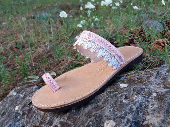 romantic sandals Gladiator sandals Greek sandals by Byhandtoheart