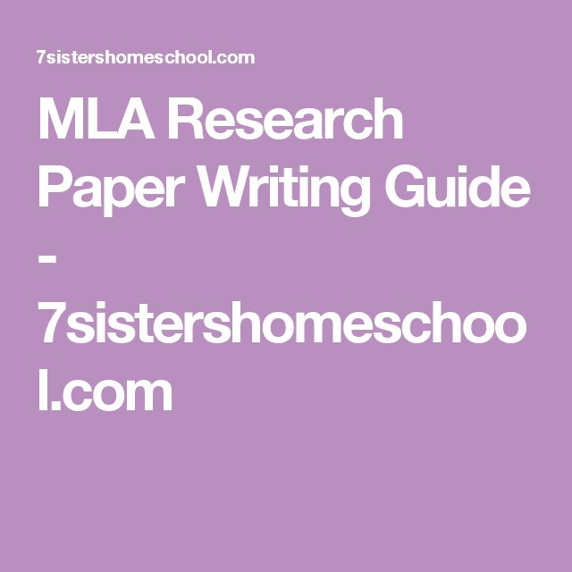 Guide research paper mla