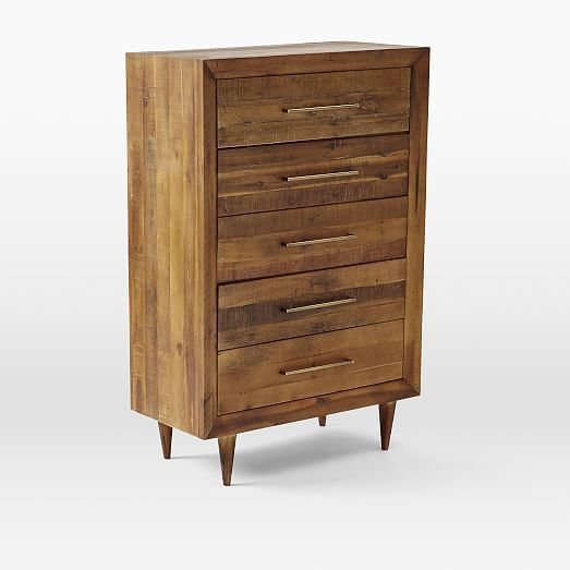 Alexa Reclaimed Wood 5-Drawer Dresser | West Elm