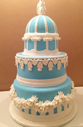 Wedgwood themed Wedding Cake