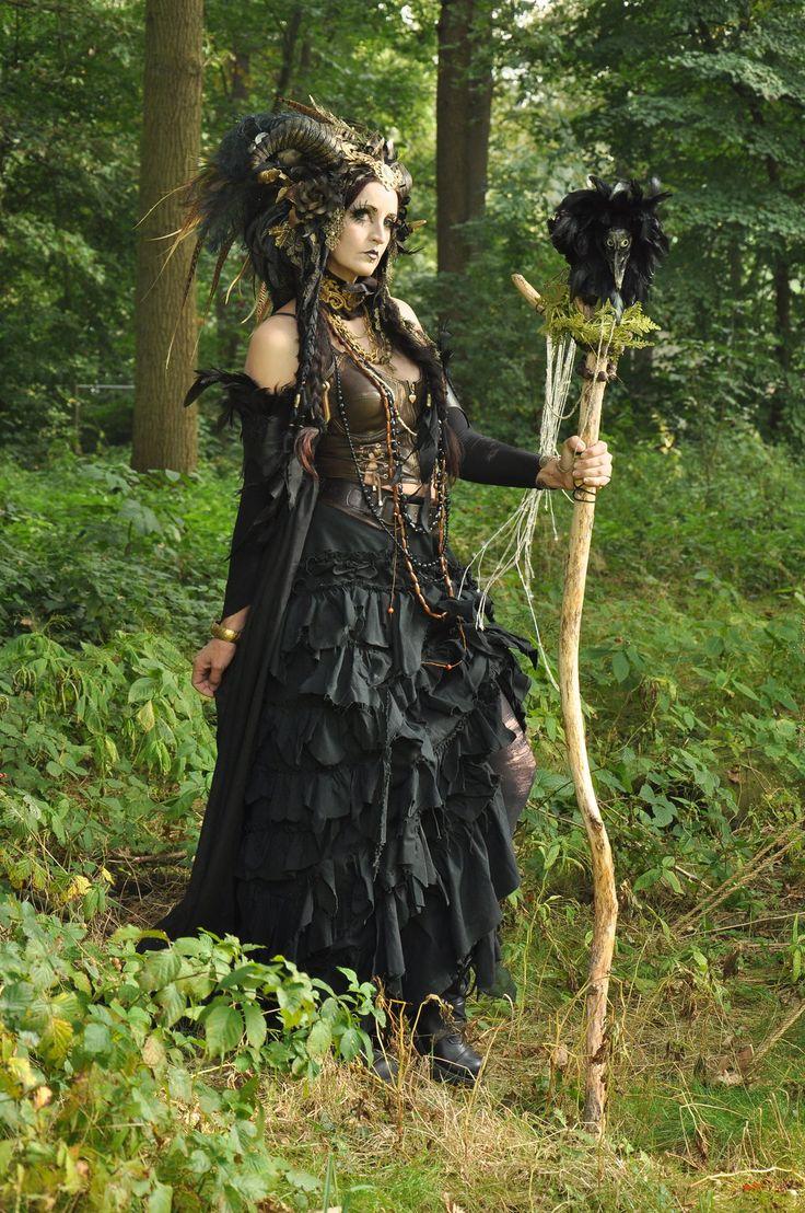 Stock - Faun Shaman Portrait Fantasy Female Dark 3 by S-T-A-R-gazer on deviantART