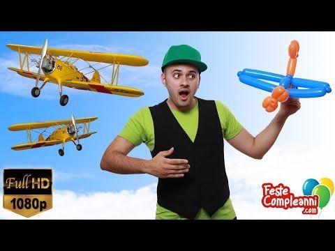 Balloon Plane - Aereo con Palloncini Modellabili - Palloncino modellabile Aereo. How to twist a simple plane with balloon art. Scultura con palloncini modellabili tutorial.  Feste Compleanni - Aereo con Palloncini - Ecco per voi un altra splendida scultura per le vostre feste di compleanno. Nel tutorial di oggi vedremo come costruire un Aeroplanino utilizzando solamente due palloncini modellabili per sculture.