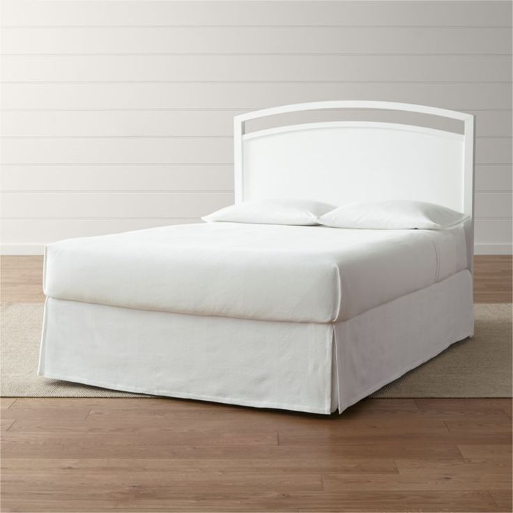Shop Arch White Queen Headboard.  Designed by Blake Tovin, the Arch White Queen Headboard is a Crate and Barrel exclusive.