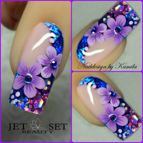 Beautiful! Not sure how to incorporate into real nails but I still like it. still pretty