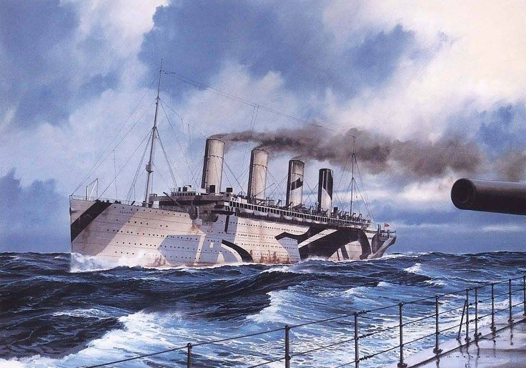 May 12th 1918 HMT Olympic was carrying U.S. troops to Cherbourg, France when she sighted the surfaced  U-boat 103 which quickly began to crash dive to 30 meters as the Olympic's gunners opened fire. The Olympic then rammed into the sub just aft of her conning tower, while her massive 3-bladed port wing propeller sliced through the boat's pressurized hull. U-103 blew her ballast tanks and was abandoned by her crew. Olympic remains the only ocean liner in history to sink an enemy submarine!