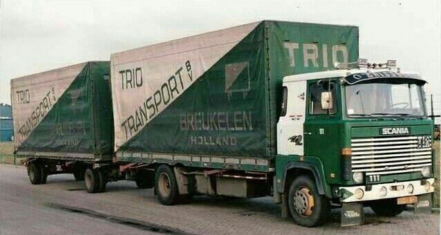 Scania Lb 111 4x2 Met Huifaanhanget Van Trio Transport In Breukelen Oude Trucks Vrachtauto Vrachtwagens