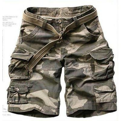 The popularity of baggy camo shorts.