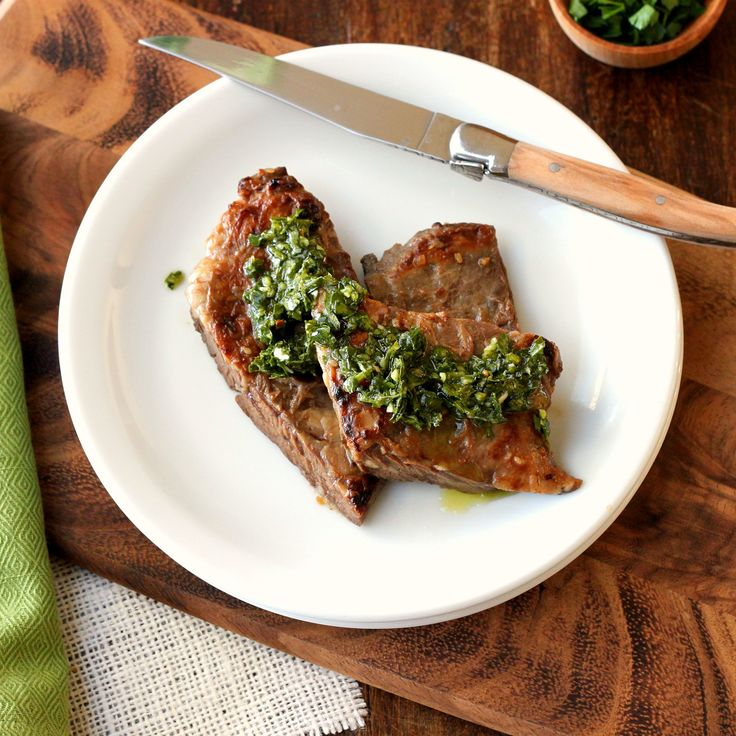 Skirt Steak with Chimichurri Sauce | ideas | Pinterest