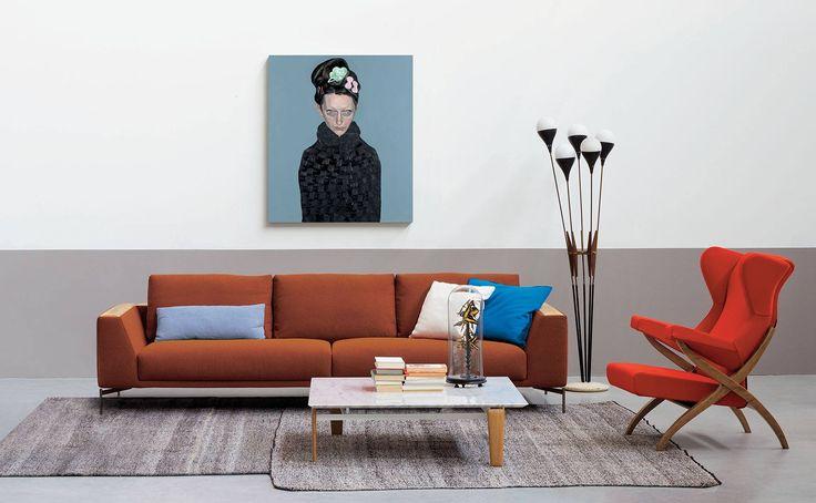 arflex - Hollywood sofa and Tablet small table design Claesson Koivisto Rune , Fiorenza armchair design Franco Albini -Theoriginaldesign