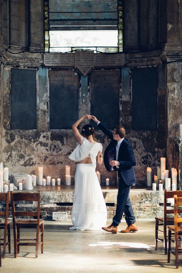 Romantic Asylum Wedding London | Photography Miss Gen | Brides Dress Laure De Sagazan