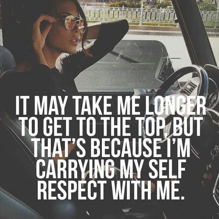 Absolutely! Self-respect is SO important!!!!