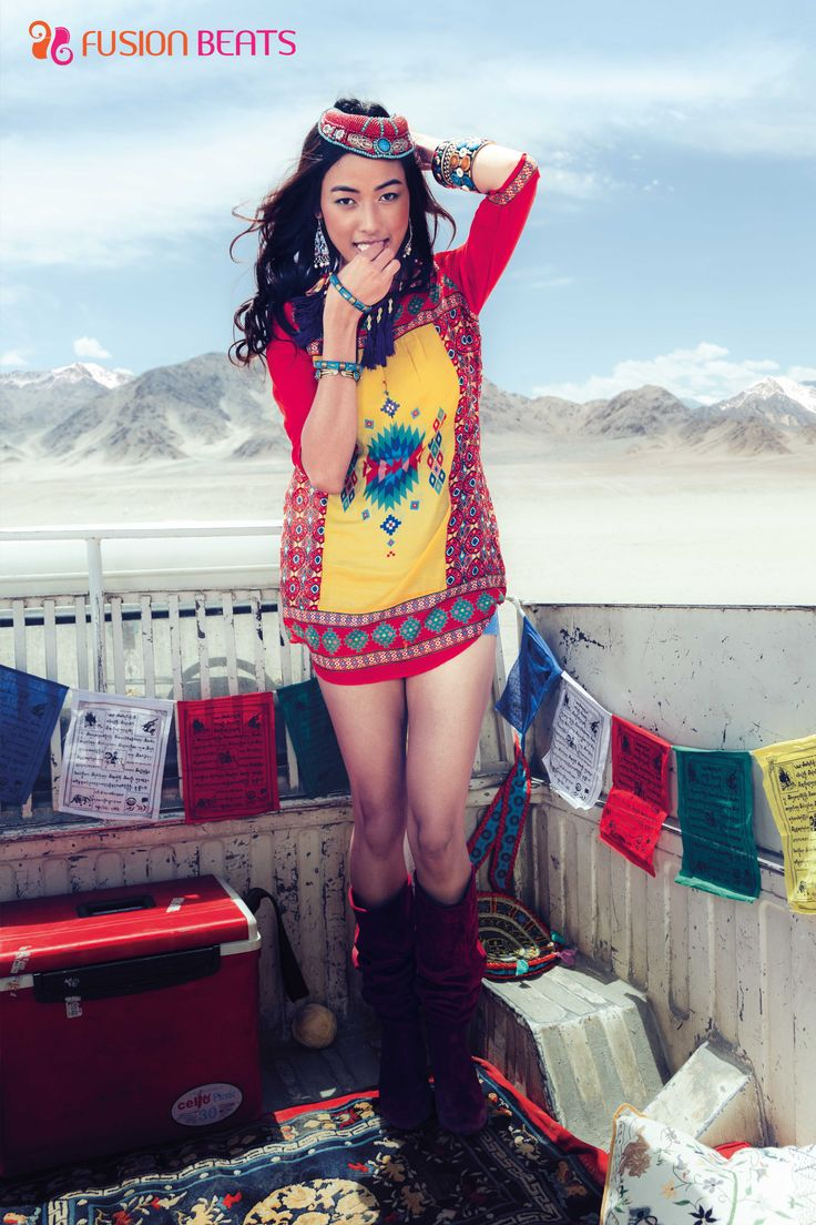Red and Yellow Gypsy tunic.