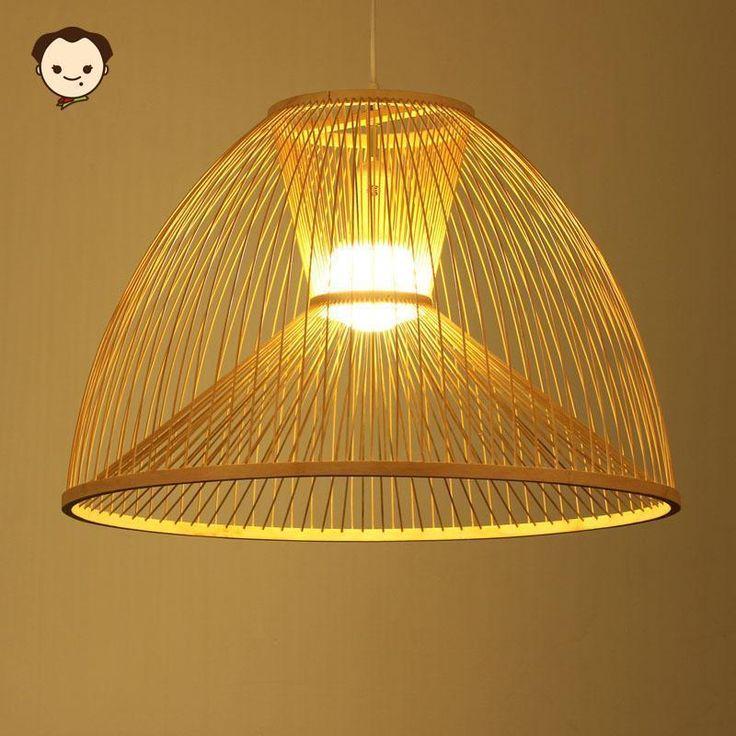 Bamboo Wicker Rattan Shade Pendant Light Fixture Vintage Ceiling Lamp Design LED #HelloMaodada #Asian