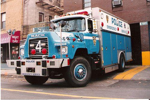 NYPD ESU Police Truck 4 Bronx NY 1993