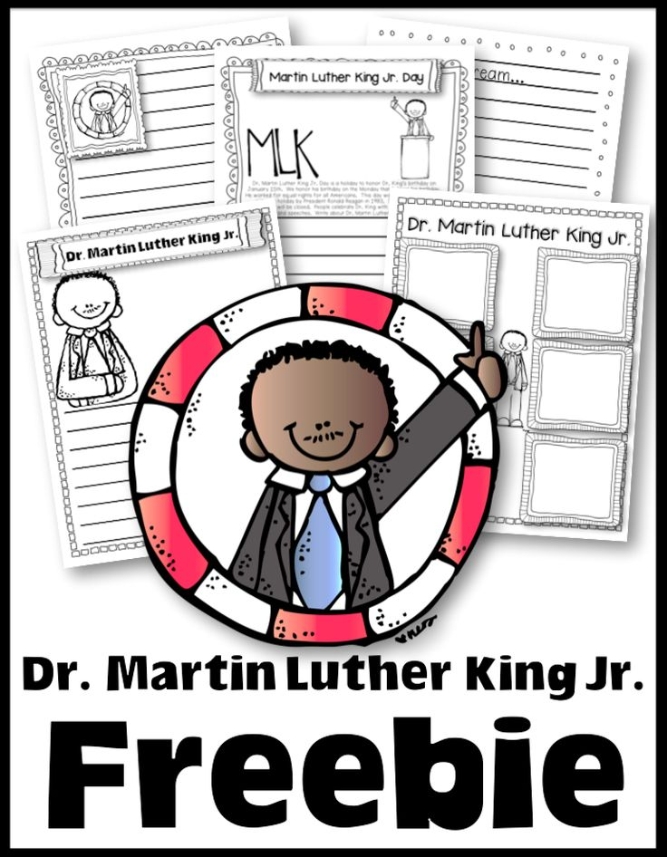 FREE worksheets, writing, and more to celebrate Dr. Martin Luther King Jr. Day.   Inside you will find writing activities and links to videos.