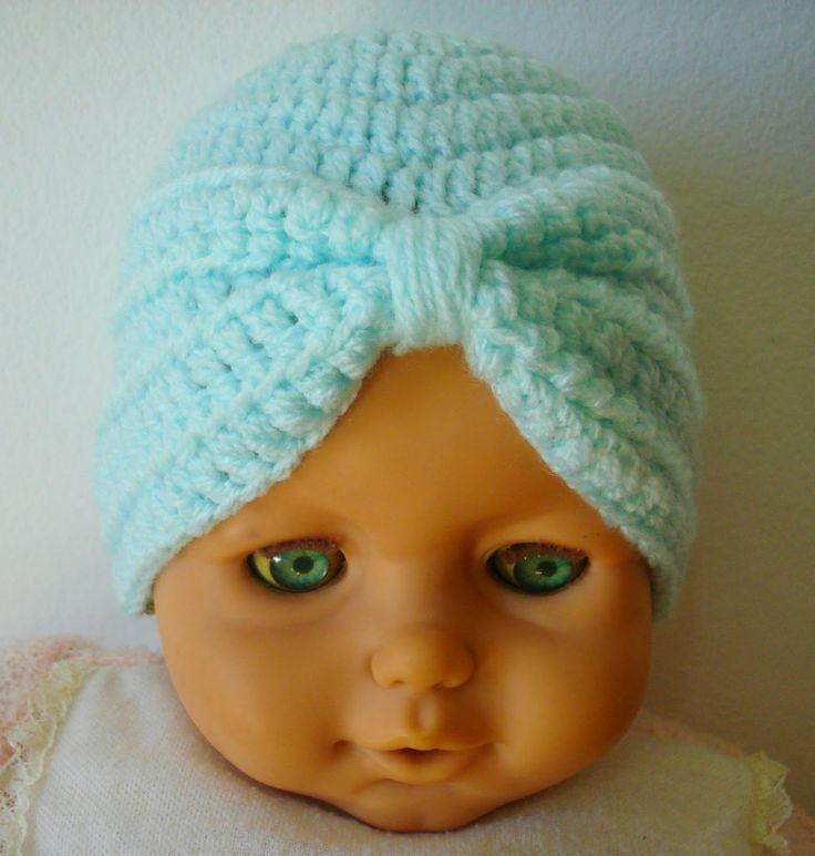 Minhas linhas e eu: Turbante para bebê