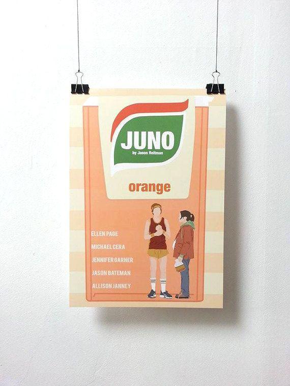 Juno Movie Print  Poster Jason Reitman A3 by MinusculeMotion