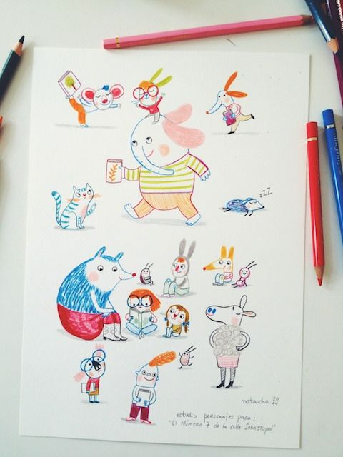 New characters from my last project. - Natascha Rosenberg