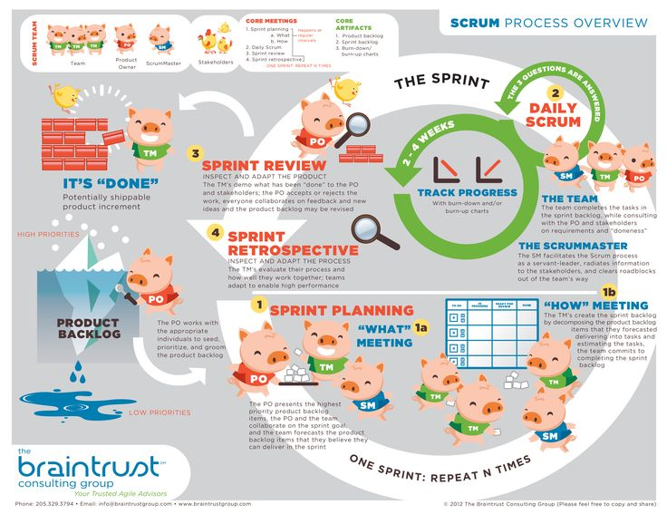 We're proud of this infographic: The Scrum Process, Braintrust Consulting Group.