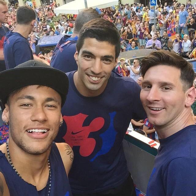 Messi, Neymar and Suarez - FC Barcelona