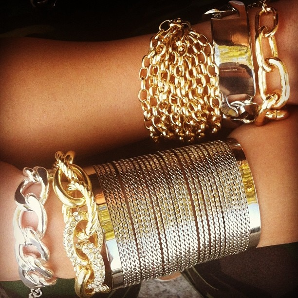 Chain reaction. #gojane #armparty #armswag #gold #silver #accessorize #jewelry #style #instadaily