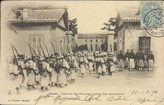 Cezayir'de Osmanlı askerleri.