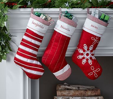 Classic Quilted Stocking Collection #pbkids