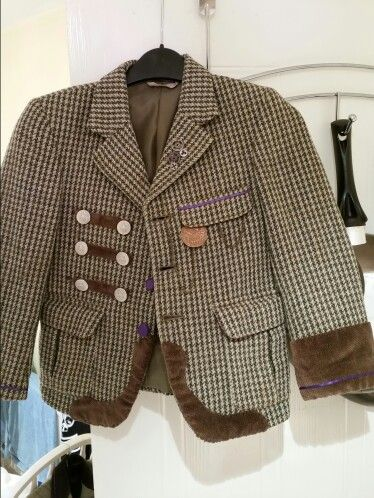 blinged up a jacket for a steam punk themed wedding
