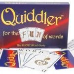 Quiddler- Create words from cards, an interesting twist on scrabble