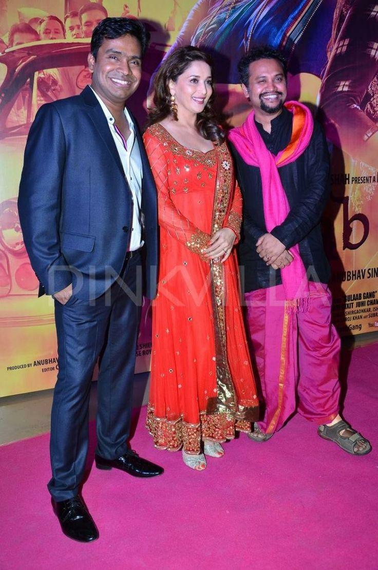 Madhuri Dixit and Juhi Chawla are all smiles at the Gulaab Gang premiere | PINKVILLA