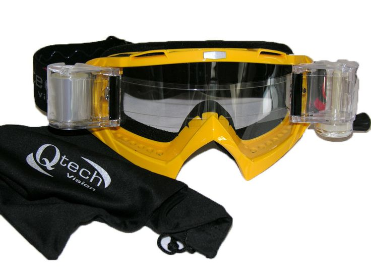 ROLL OFF offs Enduro Motocross GOGGLES MX with Canisters - Colour Choice | eBay