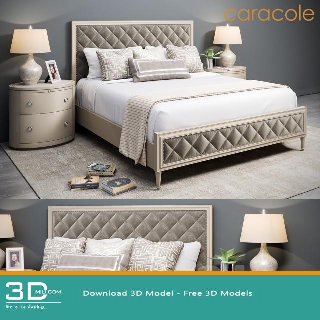 256 Caracole Bed 3d Models Free Download In 2020 Bedroom Sets