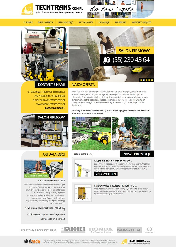WebDesign 2014 - grafika dla firmy Salon techtrans