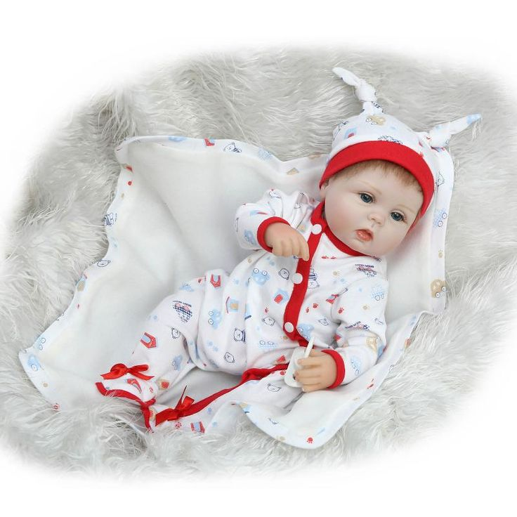 """40cm Bebe Silicone reborn realistic 18"""" Reborn Baby Doll with Soft Body kids Playmate Gift For Girls Holiday Toys Boneca Reborn"""