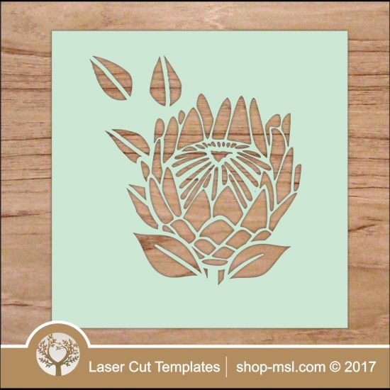 """Laser cut stencil Protea template. Download vector files, add or remove any part, resize to any size. Cut out of wood, acrylic, paper or hardboard.   <a href=""""http://shop-msl.com/View/Index.php?pge=1&cat=204,205"""" target=""""_blank"""" style=""""text-decoration:underline"""">  more flowers </a>   <a href=""""https://za.pinterest.com/cut_templates/"""" target=""""_blank&quo..."""