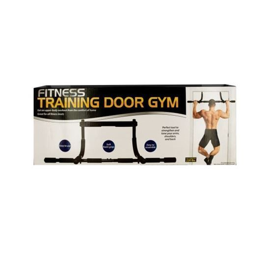Get an upper body workout from the comfort of home with this easy to use Fitness Training Door Gym featuring soft foam grips. Great for all fitness levels, it is a perfect tool to strengthen and tone your arms, shoulders and back. Ideal for pull-ups, chin-ups, push-ups, sit-ups and tricep dips. Get amazing results in no time!   http://www.saversilo.com/fitness-training-door-gym